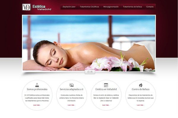 Diseño web estética valladolid