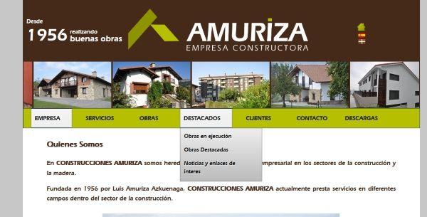 Construcciones Amuriza Menu