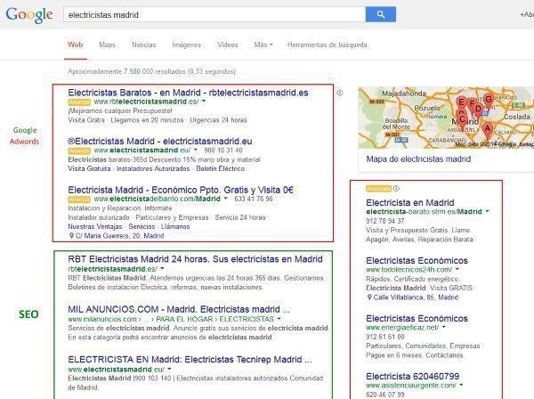 Cómo combinar SEO y Google Adwords