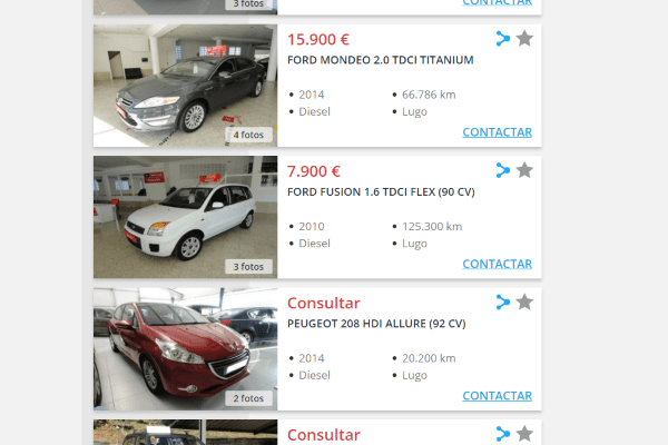 Marketing para coches de segunda mano en Lugo
