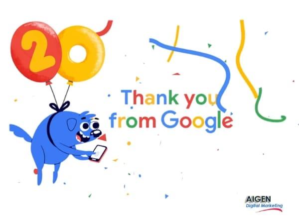 Aniversario 20 años google